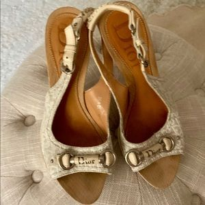Dior wooden sandals.